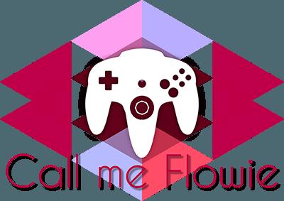Logo Call me flowie avec manette de N64
