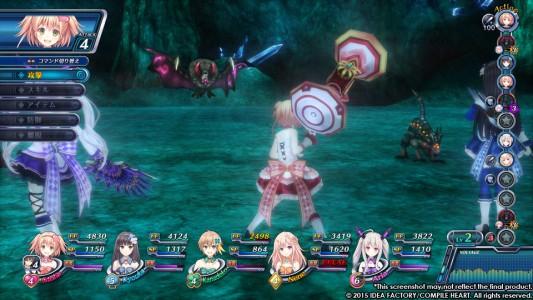Omega Quintet écran de bataille