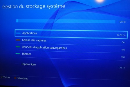Dématérialisation Disque dur PS4