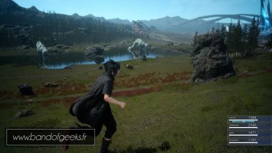 Final Fantasy XV Episode Duscae ballade dans la plaine Noctis