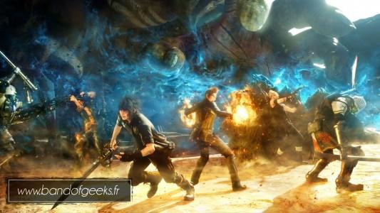 Final Fantasy XV Episode Duscae attaque de groupe