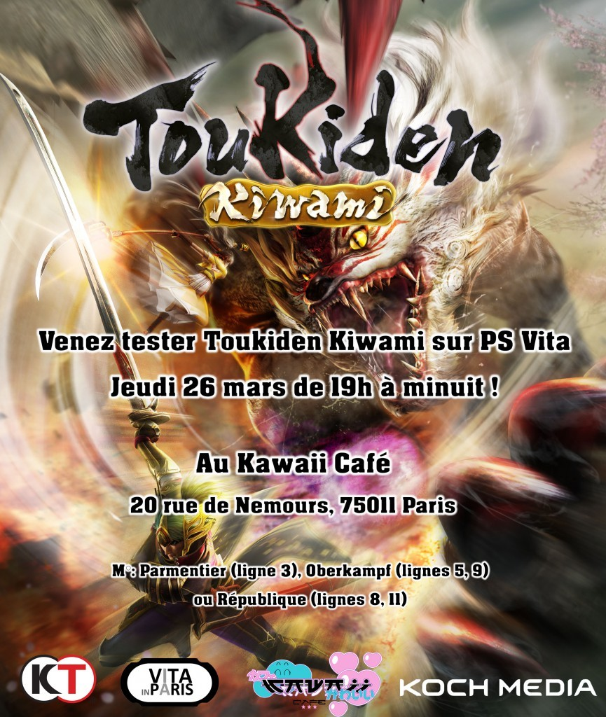 Toukiden Kiwami VITA in Paris Band of Geeks avant premiere
