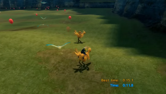 Final Fantasy X course chocobos