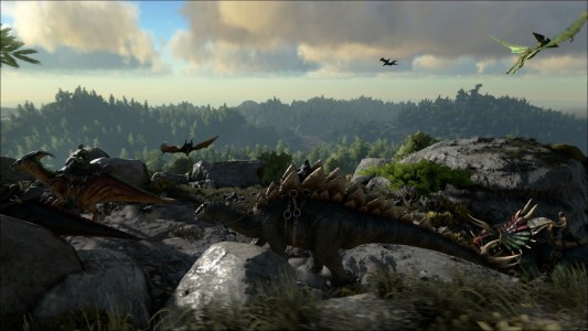 Stegosaure riding Ark Survival Evolved Band of Geeks