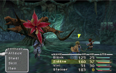 Final Fantasy IX combat boss forêt
