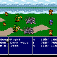 Final Fantasy IV gameplay combat Super Nes