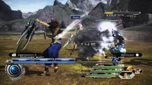 Final Fantasy XIII-2 gameplay combat