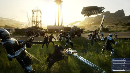 Final Fantasy XV gameplay combat Noctis