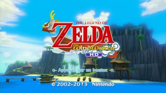The Legend of Zelda - The Wind Waker HD écran titre