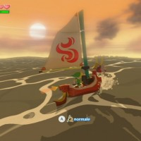 The Legend of Zelda - The Wind Waker HD coucher de soleil