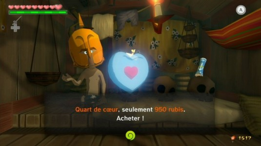 The Legend of Zelda - The Wind Waker HD magasin quart de coeur