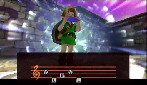 Majora's Mask Link joue de l'ocarina