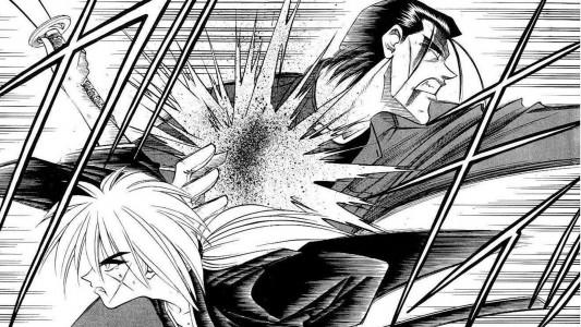 Kenshin le Vagabond affronte Hajimé Saito
