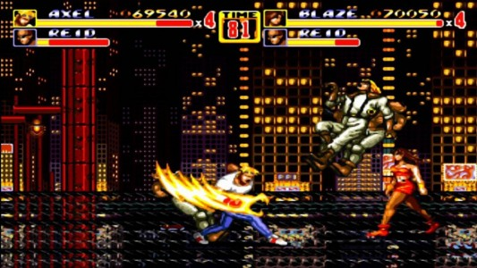 Streets of Rage II attaque ultime Axel
