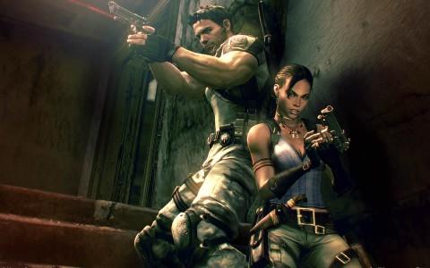 Chris Redfield et Sheva Alomar prennent la pose pour Resident Evil 5