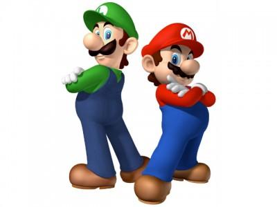 Mario et Luigi prennent la pose