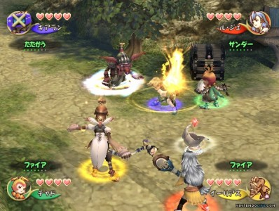 Final Fantasy crystal chronicles combat