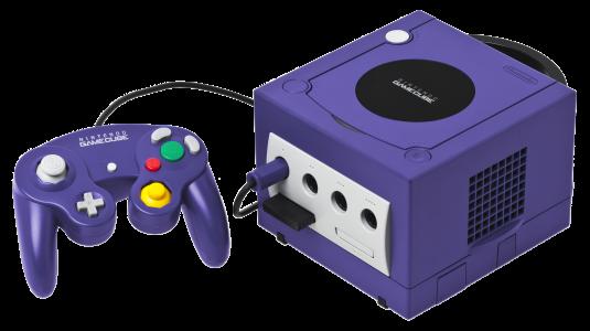 Console Game Cube violette et sa manette