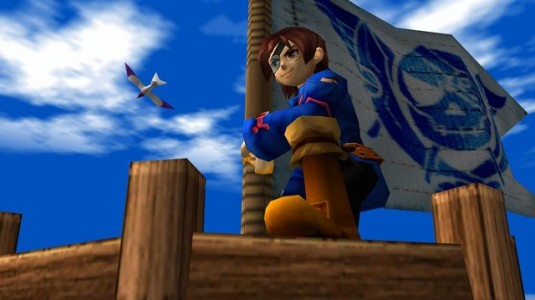 Skies of Arcadia Vyse prend la pose
