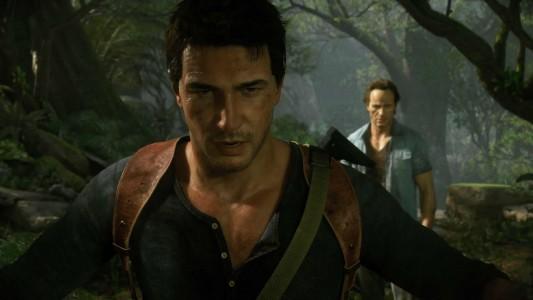 Uncharted Nathan Drake et son frère sont en pleine jungle