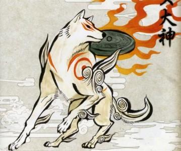 Okami Amterasu en loup