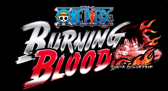 One Piece Burning Blood Logo sur fond noir