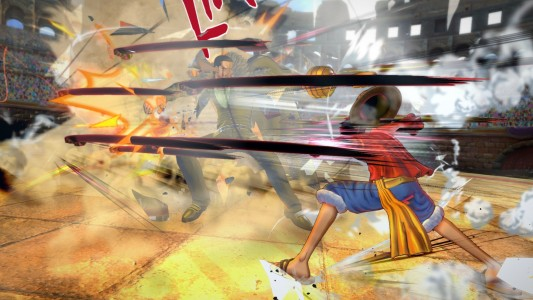 One Piece - Burning Blood Luffy enchaîne Crocodile