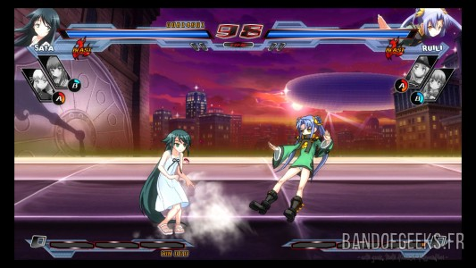 Saya Ruili Nitroplus Blasterz Heroines Infinite Duel Critique Band of Geeks