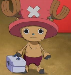 Chopper de One Piece tient sa malette de docteur