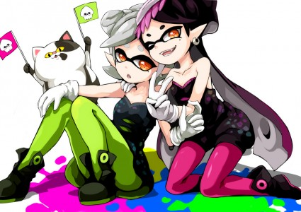 Marie et Callie de Splatoon artwork
