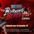 One Piece Burning Blood Démo écran titre
