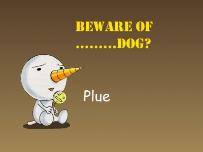 Rave Plue beware of dog