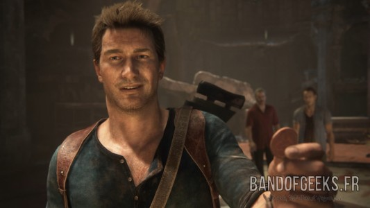 Uncharted 4 Nathan Sourire Band of Geeks