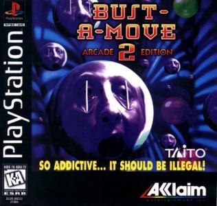Jaquette PlayStation Bust-a-move 2 billes avec visage affreux