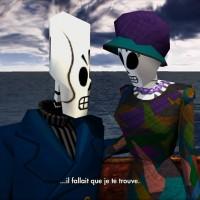 Grim Fandango Remastered Manny et Meché discutent en amoureux