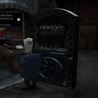 Grim Fandango Remastered Manny discute avec un démon qui répare la machine