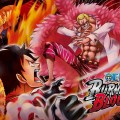 One Piece Burning Blood écran de chargement Luffy contre Doflamingo