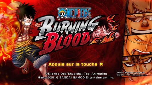 One Piece Burning Blood écran titre