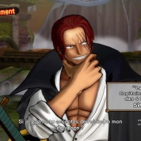 One Piece Burning Blood Shanks se tient le menton présentation