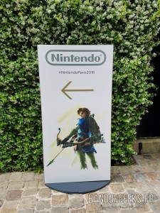 Panneau Entree Evenement Post E3 Nintendo Band of Geeks