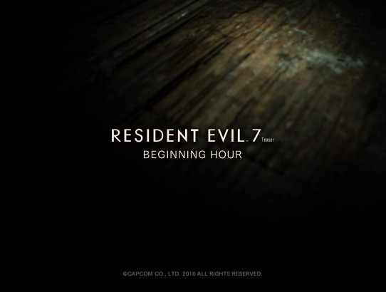 Resident Evil 7 Teaser: Beginning Hour Logo