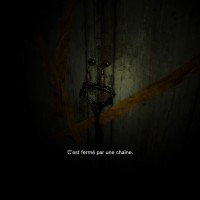 Resident Evil 7 - Beginning Hour placard fermé par une chaîne