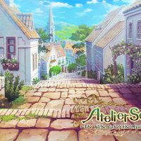 Atelier Sophie : The Alchemist of the Mysterious Book village en CG avec le logo