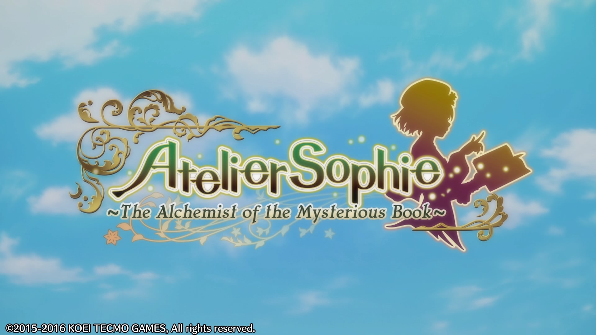 Atelier Sophie - The Alchemist of the Mysterious Book Logo du jeu sur fond ciel bleu