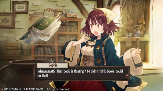 Atelier Sophie : The Alchemist of the Mysterious Book Plachta flotte devant Sophie