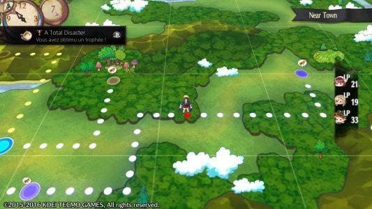 Atelier Sophie : The Alchemist of the Mysterious Book carte du monde Sophie s'y déplace