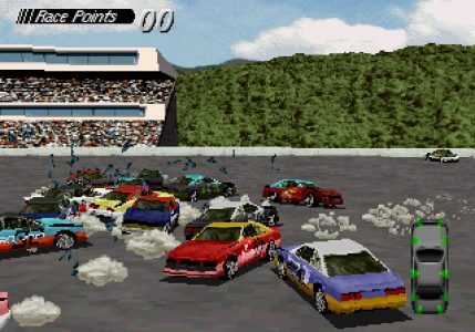 Destruction Derby PlayStation voitures qui se crashent