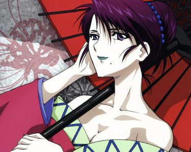 Komagata Yumi porte une ombrelle
