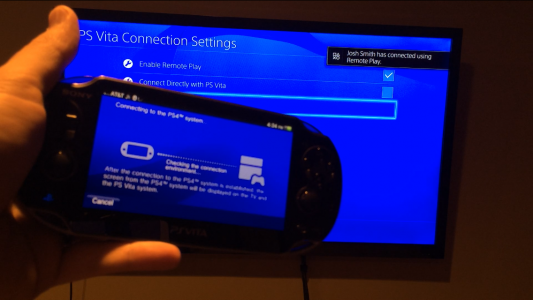 PlayStation 4 remote Play avec PS Vita