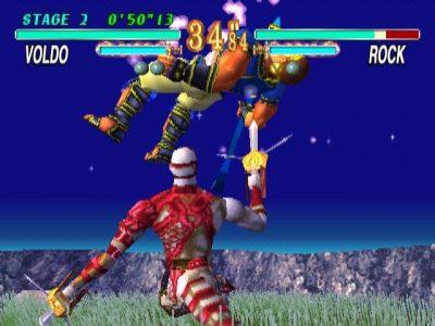 Soul Blade sur PlayStation Voldo empale Rock